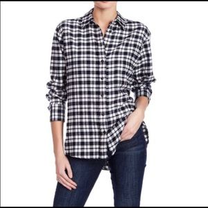 Madewell Bridgeport Button Flannel Plaid Shirt